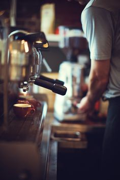 Espresso bar. Latte. Cappuccino. Americano. We share a latte here at the winery every morning at 10am.