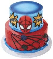 Spider-Man Cake with Edible Decorations.