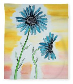 Blue Flower Watercolor Fleece Blanket x by Lkb Art And Photography. Our luxuriously soft throw blankets are available in two different sizes and feature incredible artwork on the top surface. Blankets For Sale, Soft Blankets, Canvas Art Prints, Canvas Wall Art, Framed Prints, Guest Bedroom Decor, Wood Print, Watercolor Flowers