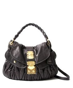 26ecb9dfdf87bb Labellov Miu Miu Black Coffer Matelasse Leather Bag ○ Buy and Sell  Authentic Luxury
