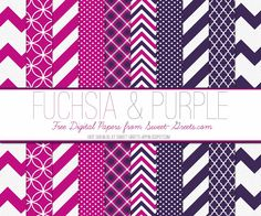 Just Peachy Designs: Free Fuchsia and Purple Digital Paper Set