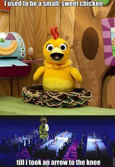 Funny story: When I first learned her name was Chica I IMMEDIATELY thought of that puppet! Used to watch that show all the time when I was younger. Lol!