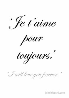 French quotes, french love sayings, latin love quotes, french tattoo qu French Tattoo Quotes, French Love Quotes, French Words, Spanish Quotes, My Love In French, Romantic French Phrases, French Sayings, Love Quote Tattoos, Language Quotes