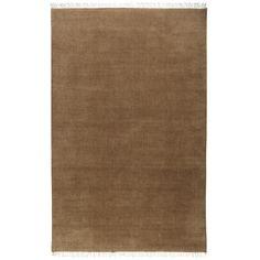 Brown Kanta Rug - Latte - Wool