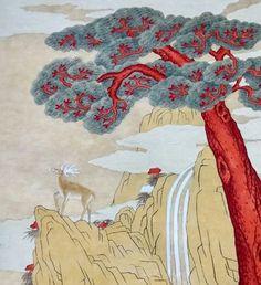 전국민화 공모전 <꿈꾸는 세상> : 네이버 블로그 Oriental, Korean Painting, Korean Art, Folk Art, Rooster, Disney Characters, Fictional Characters, Carpet, Disney Princess