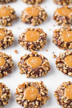 Salted Caramel Turtle Thumbprint Cookies - Cooking Classy