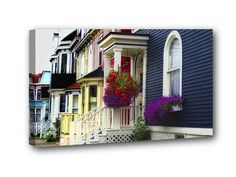 Gower Street – The beautiful colours of the older houses in St. John's, lends to the character of this beautiful port city. Available at the NLInsider Online Store