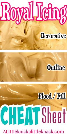 Create the PERFECT royal Icing consistencies to decorate your sugar cookies with. - Create the PERFECT royal Icing consistencies to decorate your sugar cookies with these tips and tri - Iced Cookies, Cookies Et Biscuits, Cake Cookies, Cupcake Cakes, Cookies With Royal Icing, Sugar Cookie Recipe For Royal Icing, Royal Icing Decorated Cookies, Royal Frosting, Holiday Cookies