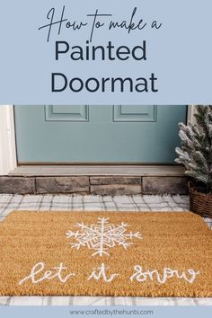 Learn how to make a painted doormat! Use any stencil or design or freehand it. Get all the tips on how to make a DIY doormat that lasts. Cricut Christmas Ideas, Simple Christmas, Christmas Crafts, Fall Crafts, Christmas Decorations, Christmas Ornaments, Home Renovation, Diy Décoration, Easy Diy