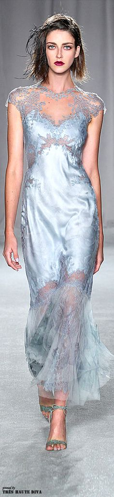 Marchesa Spring/Summer 2014 - New York Fashion Week -Runway-lower the neck and it's a beautiful nightgown