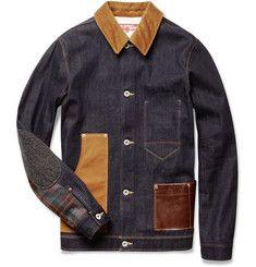 Junya Watanabe Levi's Contrast-Panel Denim Jacket   MR PORTER