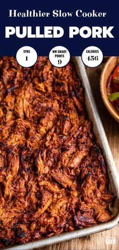 Delicious tender caramelized BBQ Slow Cooker Pulled Pork Sandwich - a perfect family meal!! Gluten free, dairy free, Slimming World and Weight Watchers friendly