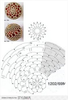 Crochet Lace to Cover a Christmas Ball - Thread with a metallic thru it would sparkle.