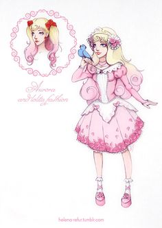 Another one loli-version of Disney Princess. My Princess Aurora in a cute pink dress, I tried to make her look like a sweet-lolita. Maybe later I'll make loli-dress in blue color. ^.^