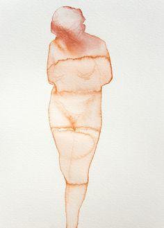 """Saatchi Online Artist: Carlos San Millan; Watercolor, 2012, Painting """"N/T"""""""