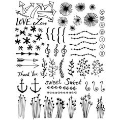 Hand Drawn Vector Doodle Set ❤ liked on Polyvore featuring doodle and scribble