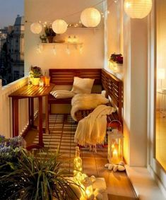 Comfortable apartments with balcony decoration, … – Balkon Deko Ideen – Balcony Apartment Balcony Garden, Apartment Balcony Decorating, Apartment Balconies, Cool Apartments, Apartment Living, Apartment Porch, Apartment Design, Living Rooms, Small Balcony Decor