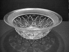 Elegant Depression Cape Cod Imperial Glass 10 & 3/4 in Bowl 4 inches tall NICE