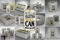 Metal Can Mock Up Collection by INC Design on @creativemarket