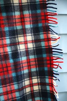 1950's Vintage Blanket Wool Plaid Lap Throw  by VintageCommon, $49.99