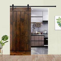 Wood Barn Door, Barn Door Hardware, Barn Doors, Barn Door Cabinet, Wood Doors, Sliding Door Track, Sliding Doors, Home Panel, Rm 1