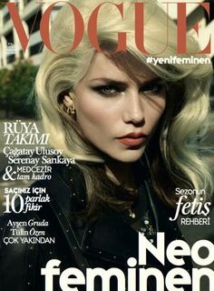 Vogue Turkey - October - Natasha Poly - Cuneyt Akeroglu - 2014 www.lisaeldridge.com #LisaEldridge #beauty #makeup #CuneytAkerogly