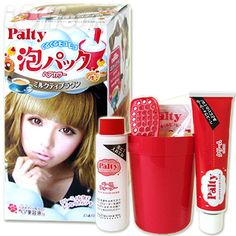 Palty Hair Color at www.himecastle.com !! You have a whole skit prepared for you !! Easy to use and fast to dye hair !!