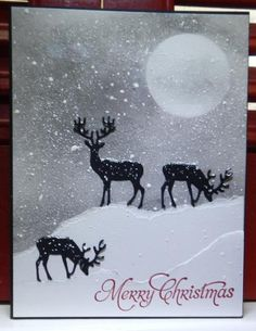 IC467 Santa's Deer by jandjccc - Cards and Paper Crafts at Splitcoaststampers