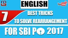 7 BEST TRICKS TO SOLVE REARRANGEMENT   ENGLISH   SBI PO 2017