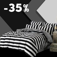 3 Pcs Duvet Cover set Super King Queen Size Customized Bedding sets Printing Not Ball Not Fade Bed Set Black And White #Affiliate