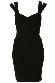 Tall Black Bandage Bodycon Dress