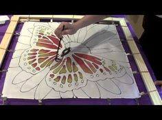 Watch a short demo of a monarch butterfly silk painting that you can do yourself. With Pamela Glose, silk painter and ebook author, www.MySilkArt.com.