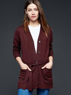 Brooklyn V-neck cardigan - I've been looking for a great long cardigan like this!