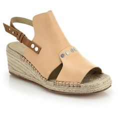 585ccc86918 Rag   Bone Sayre Ii Two-Tone Leather   Espadrille Wedge Sandals - Lyst