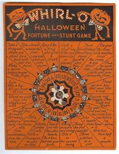 Halloween ideas  Vintage Beistle Whirl O Halloween Fortune and Stunt Game Spooky!!!!!