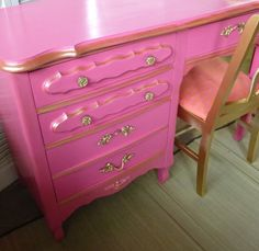 Paris Apartment Desk Vintage Poppy Cottage Custom by poppycottage, $450.00