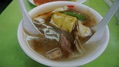 Seafood Soup. Squid, Octopus, and Bamboo shoots - Shilin Night Market Taipei Taiwan