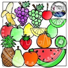 Fruit Clipart Bundle