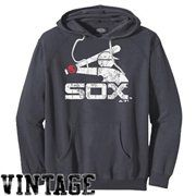 Majestic Threads Chicago White Sox Cooperstown Collection Tri-Blend Pullover Hoodie - Charcoal
