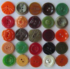 Vintage buttons, little works of art