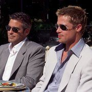 Brad Pitt and George Clooney in Ocean's Eleven (2001)