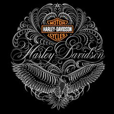 Harley-Davidson® Apparel on Behance Script calligraphy, lettering, flourishes
