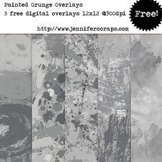 Pastel Painted Grunge Papers and Overlay Pack - freebie paper pack of the day