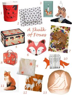 Foxes broke out as a decor trend a few years ago and they haven't really left - they're foxy that way. Their popularity may be just redemption for the bad rap they've gotten throughout children's literature as scheming tricksters. Let's put our own spin on foxes and celebrate them for their agile minds and the cozy dens they inhabit.