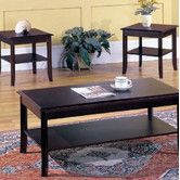 Found it at Wayfair - InRoom Designs 3 Piece Coffee Table Set