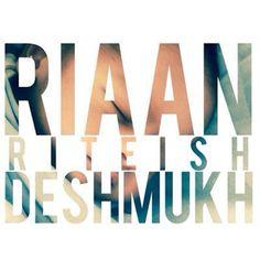 Riteish   Genelia named their son Riaan Deshmukh