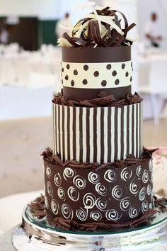 chocolate tiered cake