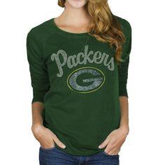 Junk Food Green Bay Packers Ladies Field Goal Fleece Sweatshirt - Green