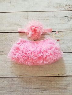 Newborn Outfit Pink Baby Bloomer And Headband Set Newborn Bloomer Infant Pink Bloomer Diaper Cover Newborn Headband Pink Headband Photo Prop by AdassaBaby on Etsy