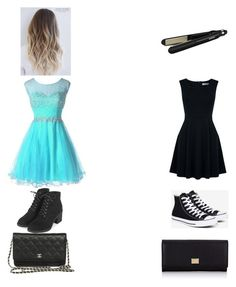 """""""Daughter v.s. Dad for prom outfit  the first one is the daughter and the second  is the dad"""" by nicolekt on Polyvore featuring Topshop, Oasis, Converse, BaByliss and Dolce&Gabbana"""